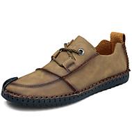 baratos Sapatos Masculinos-Homens Impressão Oxfords Couro Sintético Primavera Verão Vintage / Casual Oxfords Caminhada Não escorregar Preto / Amarelo / Khaki