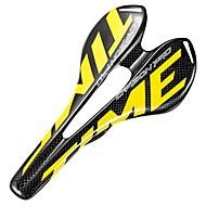 אוכף אופניים קל משקל נושם קומפורט עיצוב חלול סיבי פחמן רכיבת אופניים אופני כביש אופני הרים אופניים הילוך קבוע שחור / צהוב