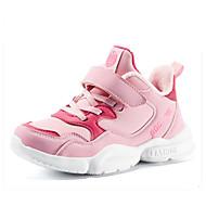 baratos Sapatos de Menino-Para Meninos / Para Meninas Sapatos Couro Ecológico Inverno Conforto Tênis Velcro para Infantil Azul Escuro / Rosa claro / Preto / Amarelo / Estampa Colorida