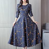 Dame I-byen-tøj Gade Sofistikerede Skede Kjole - Geometrisk, Trykt mønster Midi