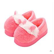 baratos Sapatos de Menina-Para Meninos / Para Meninas Sapatos Camurça Inverno Conforto Chinelos e flip-flops para Bebê Preto / Cinzento / Pêssego / Estampa Colorida