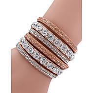 Femme Alliage Mode Diamant bracelet - Bloc de Couleur