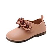 billige Sko til blomsterpiger-Pige Sko PU Forår sommer / Efterår vinter Sko til blomsterpiger Sneakers Gang Blomst for Børn / Baby Beige / Brun / Lys pink / Ankelstøvler