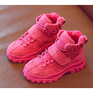 baratos Sapatos de Menino-Para Meninos / Para Meninas Sapatos Couro de Porco Inverno Botas da Moda Botas Velcro para Infantil Pêssego / Marron / Rosa claro / Botas Curtas / Ankle