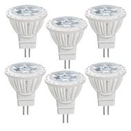 billige Spotlys med LED-6pcs 4 W 350 lm MR11 LED-spotpærer MR11 4 LED perler SMD 2835 Varm hvit / Kjølig hvit 12 V