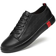 baratos Sapatos Masculinos-Homens Sapatos de couro Pele Primavera & Outono Casual / Formais Tênis Não escorregar Branco / Preto