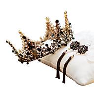Černá labuť Koruna Vintage Gothic Lolita Barroco Elegantní Visací náušnice Náušnice - Kruhy Diadémy čelo Crown Pro Párty a večerní akce Maturitní ples Svatebnívečírek Dámské Dívčí Křišťál 1 x pár