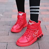 tanie Obuwie dziewczęce-Dla dziewczynek Obuwie Skóra bydlęca Jesień i zima Wygoda Adidasy na Dla nastolatków Czarny / Czerwony