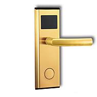 billige Dørlås-Factory OEM Rustfritt Stål Lås Smart hjemme sikkerhet System RFID / Lås opp passord / Lavt batteri påminnelse Leilighet / Hotell Wooden Door / Komposittdør (Lås opp modus Mekanisk nøkkel / Kort)