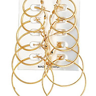 Per donna Orecchini a cerchio Set di orecchini Orecchini Classico Essenziale Gioielli Oro / Argento Per Regalo Ufficio e carriera 6 Pairs