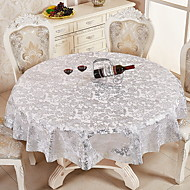 cheap Table Linens-Contemporary PVC(PolyVinyl Chloride) Round Table Cloth Floral Table Decorations 1 pcs