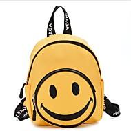 Mädchen Taschen Segeltuch Schultasche Reißverschluss Schwarz / Rote / Gelb