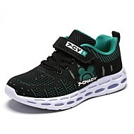 a19d88bd3125b Garçon Chaussures Tissu élastique Printemps   Automne Confort Chaussures  d Athlétisme Marche pour Adolescent Noir   Violet   Rose