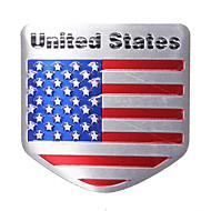 EUA bandeira metal auto remodele carro emblema emblema decalque autocolante