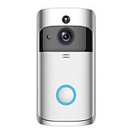 billige Dørtelefonssystem med video-Factory OEM Trådløs 2.4Ghz Innebygd Ut-høytaler Nei Håndfri 1280*720 pixel En Til En Video Dørtelefon
