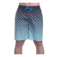 สำหรับผู้ชาย เพรียวบาง กางเกงวอร์ม / กางเกงขาสั้น กางเกง - ลายบล็อคสี สีน้ำเงิน