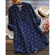 Dámské Větší velikosti Základní Pouzdro Šaty - Puntíky Geometrický, Nabírané šaty Nad kolena Vysoký pas / Sexy