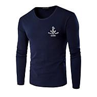 Ανδρικά Μεγάλα Μεγέθη T-shirt Κομψό στυλ street Γράμμα Στρογγυλή Λαιμόκοψη Στάμπα / Μακρυμάνικο / Άνοιξη / Φθινόπωρο