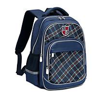 cheap School Bags-Unisex Bags Oxford School Bag Zipper Geometric Pattern Purple / Fuchsia / Royal Blue
