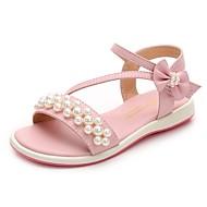 Girls' Shoes Microfiber Summer Comfort Sandals for Kids Beige / Pink