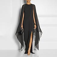 levne -A-Linie Klenot Na zem Šifón Formální večer Šaty s Rozparek vpředu podle LAN TING Express
