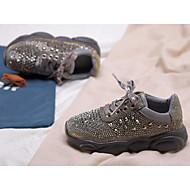 Garçon Chaussures Polyuréthane Printemps Confort Chaussures d'Athlétisme Course à Pied pour Enfants / Adolescent Dorée / Argent