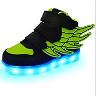 เด็กผู้หญิง รองเท้า PU ฤดูใบไม้ผลิ Light Up รองเท้า รองเท้าผ้าใบ เมจิกเทป / LED สำหรับ ฟ้า / สีชมพู / สีดำ / สีเขียว