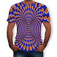 קולור בלוק / 3D / גראפי טישרט - בגדי ריקוד גברים דפוס