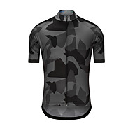 男性用 半袖 サイクリングジャージー - グレー バイク ジャージー トップス スポーツ テリレン 衣類 / 高弾性