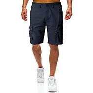 Homens Militar Chinos / Shorts Calças - Sólido Preto