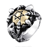 Men's Statement Ring Ring Jewelry Silver For Gift Daily