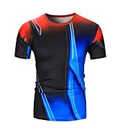 T-shirt Per uomo Monocolore Rotonda Nero L