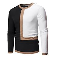 Rund hals T-skjorte Herre - Fargeblokk, Lapper Hvit XL