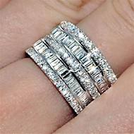 Dámské Kubický zirkon Klasika Prsten Eternity Ring spinning prsten Módní Fashion Ring Šperky Stříbrná Pro Párty Denní 6 / 7 / 8 / 9 / 10