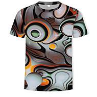 T-shirt Per uomo Con stampe, 3D Rotonda - Cotone Arcobaleno XL