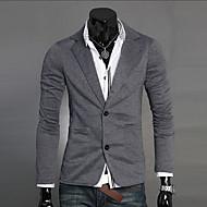 Pánské Blejzr, Jednobarevné Do V Polyester Černá / Tmavě šedá / Světle šedá L / XL / XXL