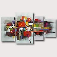 Hang festett olajfestmény Kézzel festett - Absztrakt Kortárs Modern Tartalmazza belső keret / Négy elem