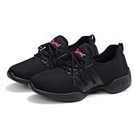 نسائي بوط رقص شبكة سينكرز كعب مسطخ مخصص أحذية الرقص أسود