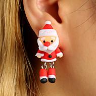 Dames Oorknopjes Druppel oorbellen Oorbel oorbellen Kerstmanpakken leuke Style Voor kinderen Sieraden Rood Voor Afspraakje 1 paar