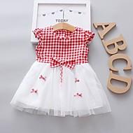 שמלה ללא שרוולים משובץ בנות תִינוֹק
