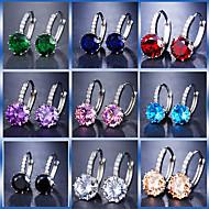 Női Radiant Cut Francia kapcsos fülbevalók Hamis gyémánt Fülbevaló Luxus Koszorúslány Ékszerek Kék / Világoskék / Világosbarna Kompatibilitás Esküvő Parti Születésnap Alkalmi Bár 1 pár
