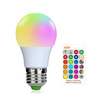1 buc 3 W Bulbi LED Inteligenți 200-250 lm E26 / E27 1 LED-uri de margele SMD 5050 Smart Intensitate Luminoasă Reglabilă Telecomandă RGBW 85-265 V / RoHs / FCC
