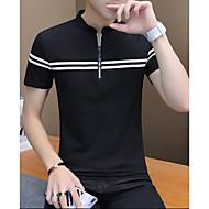 Férfi Polo - Egyszínű Fekete XL