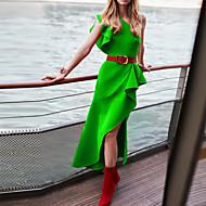 Damen Grundlegend Hülle Kleid Solide Asymmetrisch