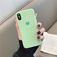 Case Kompatibilitás Apple iPhone X / iPhone XS Max Minta Fekete tok Egyszínű / Szív Puha TPU mert iPhone XS / iPhone XR / iPhone XS Max