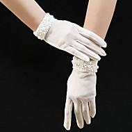 טול אורך פרק כף היד כפפה דמוי פנינה / אלגנטית עם דמוי פנינה / קצוות