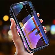 Custodia Per Apple iPhone XR / iPhone XS Max Ultra sottile / Transparente / A calamita Integrale Tinta unita Resistente Vetro temperato / Metallo per iPhone XS / iPhone XR / iPhone XS Max