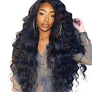 Ljudska kosa Lace Front Perika Stražnji dio stil Brazilska kosa Wavy Tijelo Wave Perika 250% Gustoća kose s dječjom kosom Najbolja kvaliteta Rasprodaja Gust Prirodna linija za kosu Natural Žene Dug