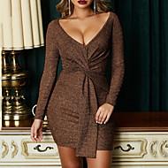 여성용 빈티지 스트리트 쉬크 시프트 드레스 - 솔리드, 레이스 -업 무릎 위