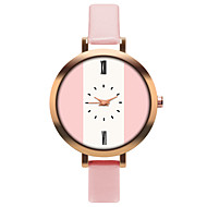 Women's Quartz Watches Casual Fashion White Orange Brown PU Leather Chinese Quartz Purple Light Green Rose Red Casual Watch Adorable 30 m 1 pc Analog One Year Battery Life